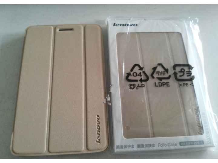 Фирменный оригинальный умный чехол-книжка для Lenovo Ideatab S5000