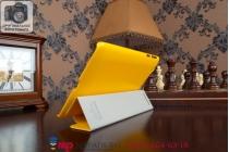 """Фирменный умный чехол-книжка для Lenovo Ideatab S5000 """"Il Sottile"""" желтый пластиковый Италия"""