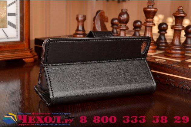 Фирменный чехол-книжка из качественной импортной кожи с мульти-подставкой застёжкой и визитницей для   Lenovo S60-T Леново Эс 60-Тэ черный