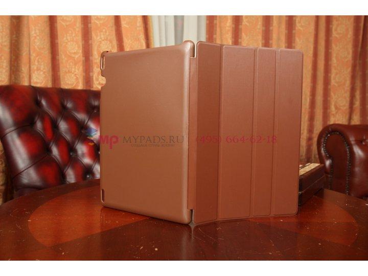 Фирменный чехол-обложка для Lenovo Ideatab S6000/S6000L Smart Case коричневый..