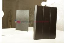 Фирменный чехол-обложка для Lenovo S6000 черный кожаный
