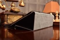 Фирменный чехол-сумка для Lenovo S6000 черный кожаный