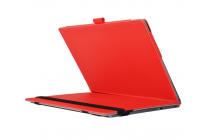 Фирменный оригинальный чехол для YB1-X91L / X90L / ZA0W0014RU с отделением под клавиатуру красный кожаный