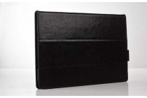 Фирменный умный дорогой качественный элитный премиальный чехол для планшета YB1-X91L / X90L / ZA0W0014RU из качественной импортной кожи с отделением под клавиатуру черный
