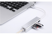 Фирменный USB-переходник / OTG-кабель + картридер для телефона Lenovo Yoga Book 10.1 YB1-X91L + гарантия