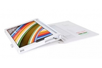 """Фирменный чехол бизнес класса для Lenovo Yoga Tablet 2 10.1 4G (1050L/1051L) с визитницей и держателем для руки белый """"Prestige"""" Италия"""