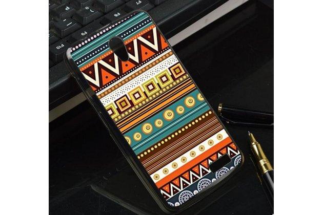Фирменная роскошная задняя панель-чехол-накладка с безумно красивым расписным эклектичным узором на Lenovo A319