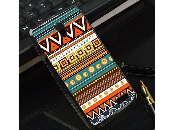 Фирменная роскошная задняя панель-чехол-накладка с безумно красивым расписным эклектичным узором на Lenovo A31..