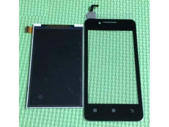 Фирменный LCD-ЖК-сенсорный дисплей-экран-стекло с тачскрином на телефон Lenovo A319 черный + гарантия..