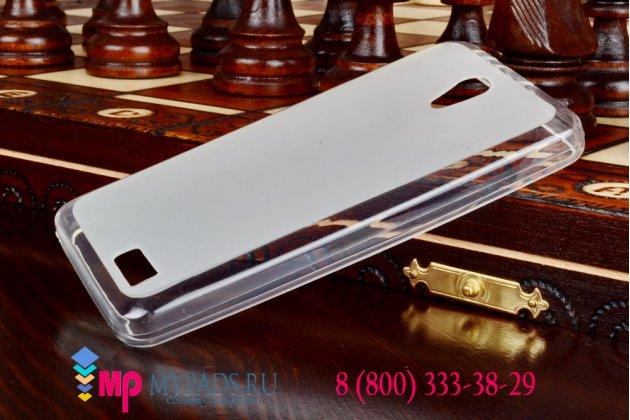 Фирменная ультра-тонкая полимерная мягкая задняя панель-чехол-накладка для Lenovo A319 белая