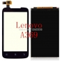 Фирменный LCD-ЖК-сенсорный дисплей-экран-стекло с тачскрином на телефон Lenovo A369i черный + гарантия..