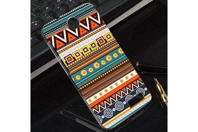 Фирменная роскошная задняя панель-чехол-накладка с безумно красивым расписным эклектичным узором на Lenovo A526