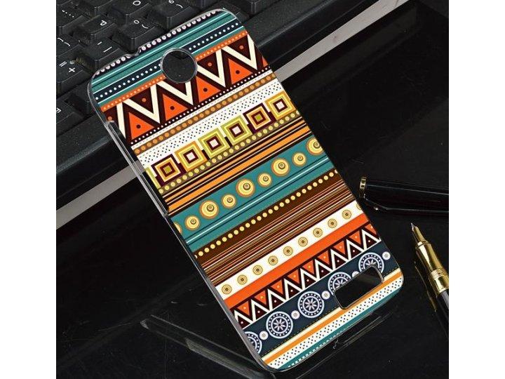 Фирменная роскошная задняя панель-чехол-накладка с безумно красивым расписным эклектичным узором на Lenovo A52..