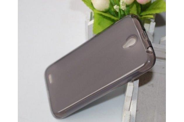Фирменная ультра-тонкая полимерная из мягкого качественного силикона задняя панель-чехол-накладка для Lenovo A859 черная