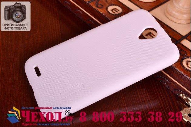 Фирменная задняя панель-крышка-накладка из тончайшего и прочного пластика для Lenovo A859 белая