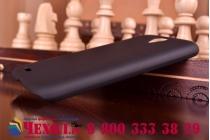 Фирменная задняя панель-крышка-накладка из тончайшего и прочного пластика для Lenovo A859 черная