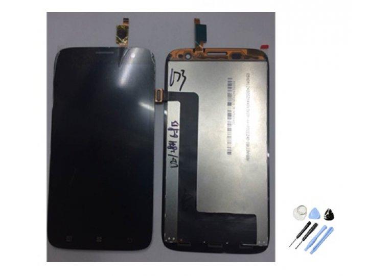 Фирменный LCD-ЖК-сенсорный дисплей-экран-стекло с тачскрином на телефон Lenovo A859 черный + гарантия..