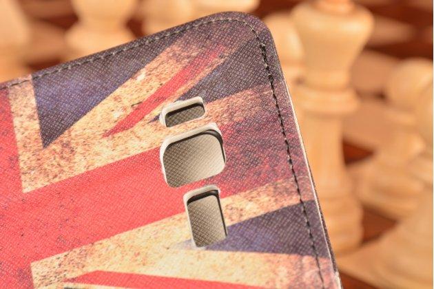 """Фирменный уникальный необычный чехол-книжка для Lenovo A916 """"тематика британский флаг"""""""