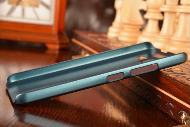 Фирменная необычная из легчайшего и тончайшего пластика задняя панель-чехол-накладка для Lenovo A916 тёмно-зелёный