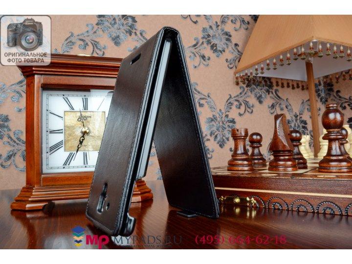 Фирменный вертикальный откидной чехол-флип для для Lenovo S8 черный из качественной импортной кожи