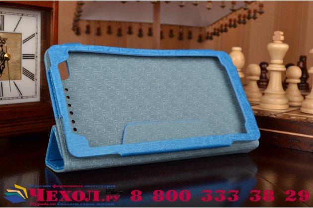 "Фирменный чехол-книжка водоотталкивающий с мульти-подставкой на жёсткой металлической основе для Lenovo Phab Plus PB1-770N/770M 6.8"" ZA070019RU синий"