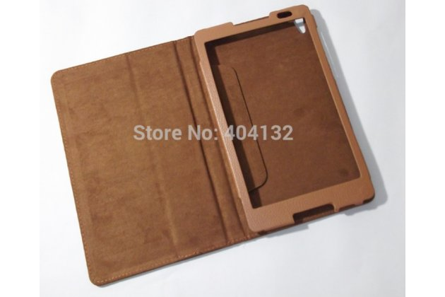 Фирменный чехол обложка с подставкой для Lenovo Ideatab S8-50F/S8-50LC коричневый кожаный