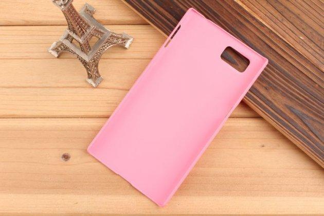 Фирменная задняя панель-крышка-накладка из тончайшего и прочного пластика для Lenovo Vibe Z2 Pro K920 розовая