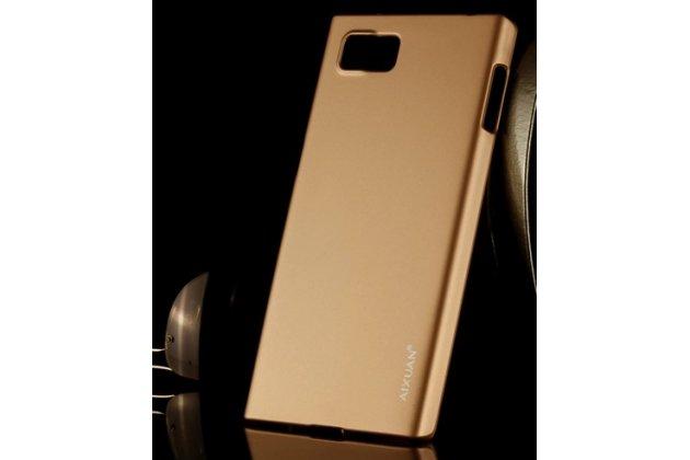 Фирменная задняя панель-крышка-накладка из тончайшего и прочного пластика для Lenovo Vibe Z2 Pro K920 золотая
