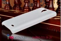 Фирменная задняя панель-крышка из тончайшего и прочного пластика для Lenovo A536 белая