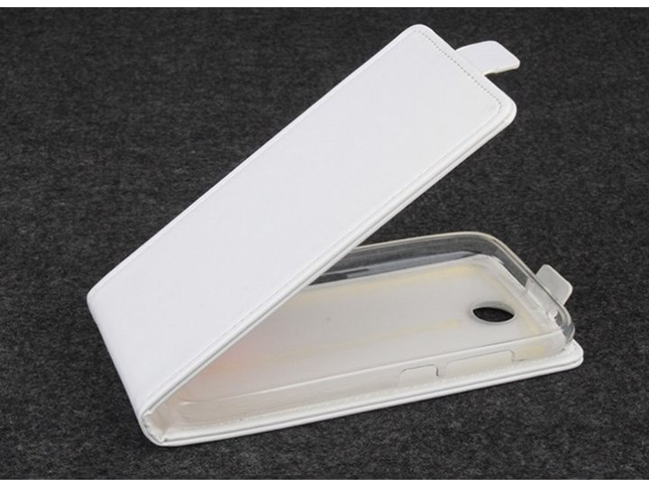 Фирменный оригинальный вертикальный откидной чехол-флип для Lenovo A560 белый из качественной импортной кожи