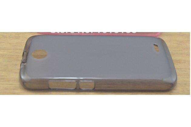Фирменная ультра-тонкая полимерная из мягкого качественного силикона задняя панель-чехол-накладка для Lenovo A560 черная