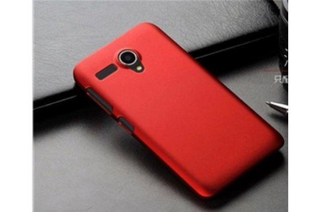 Фирменная задняя панель-крышка-накладка из тончайшего и прочного пластика для Lenovo A606 красная