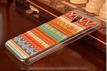 Фирменная роскошная задняя панель-чехол-накладка с безумно красивым расписным эклектичным узором на Lenovo A606