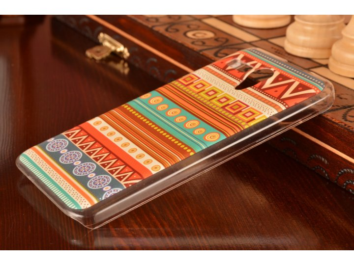 Фирменная роскошная задняя панель-чехол-накладка с безумно красивым расписным эклектичным узором на Lenovo A60..
