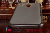 Фирменная ультра-тонкая полимерная мягкая задняя панель-чехол-накладка для Lenovo A606 черная