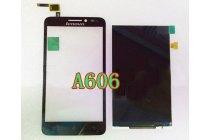 Фирменный LCD-ЖК-сенсорный дисплей-экран-стекло с тачскрином на телефон Lenovo A606 черный + гарантия
