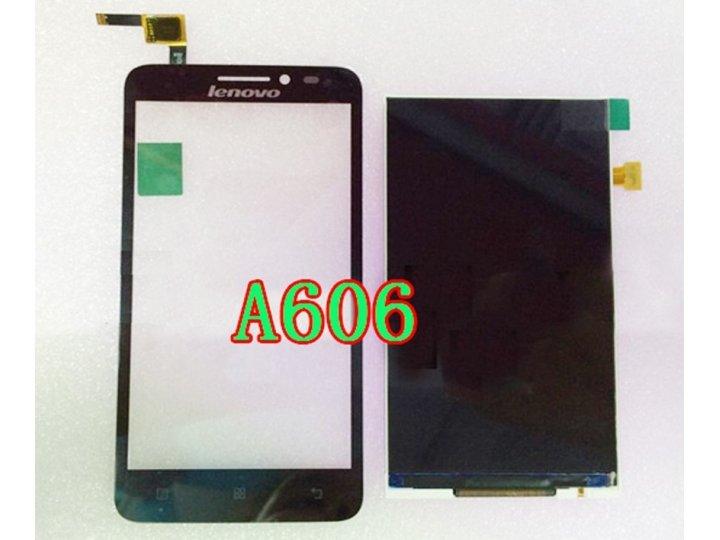 Фирменный LCD-ЖК-сенсорный дисплей-экран-стекло с тачскрином на телефон Lenovo A606 черный + гарантия..