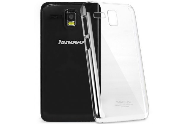 Фирменная ультра-тонкая пластиковая задняя панель-чехол-накладка для Lenovo A806 (A8) прозрачная