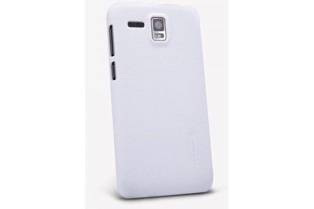 Фирменная задняя панель-крышка-накладка из тончайшего и прочного пластика для Lenovo A806 (A8) белая