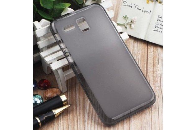 Фирменная ультра-тонкая полимерная из мягкого качественного силикона задняя панель-чехол-накладка для Lenovo A806 (A8) черная