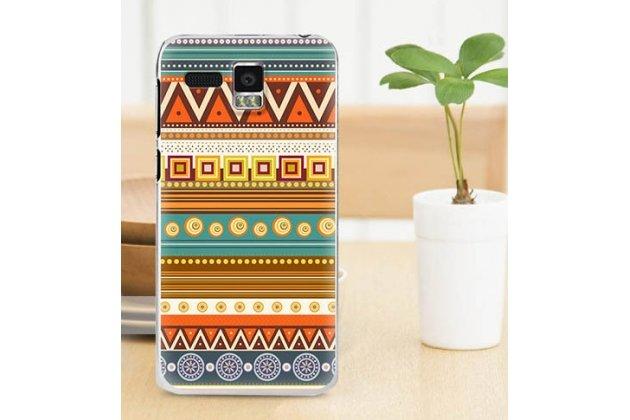 Фирменная роскошная задняя панель-чехол-накладка с безумно красивым расписным эклектичным узором на Lenovo A806 (A8)