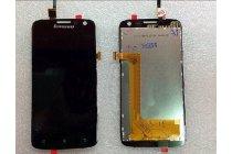 Фирменный LCD-ЖК-сенсорный дисплей-экран-стекло с тачскрином на телефон Lenovo A806 (A8) черный + гарантия