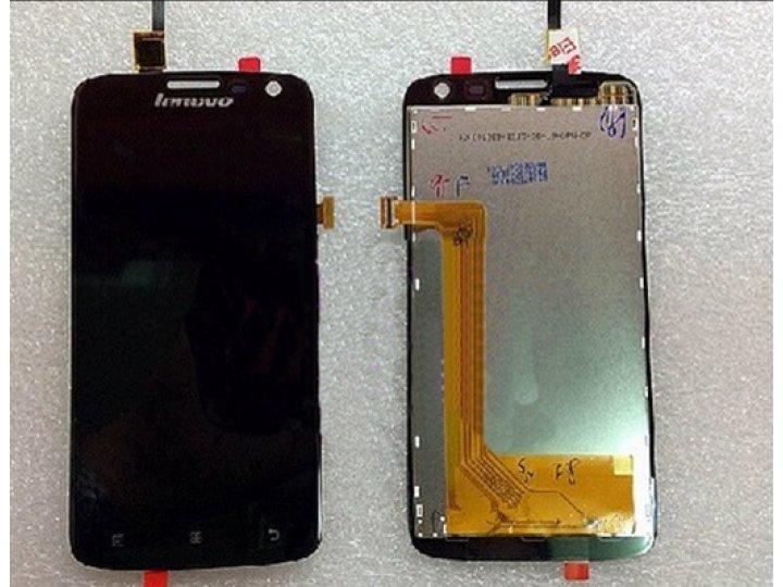 Фирменный LCD-ЖК-сенсорный дисплей-экран-стекло с тачскрином на телефон Lenovo A806 (A8) черный + гарантия..