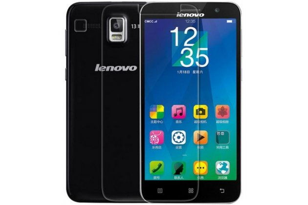 Фирменная оригинальная защитная пленка для телефона Lenovo A806 (A8) глянцевая