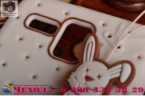 """Фирменная необычная уникальная полимерная мягкая задняя панель-чехол-накладка для Lenovo A806 (A8) """"тематика Андроид в Белом Шоколаде"""""""