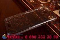 Фирменная роскошная задняя панель-чехол-накладка с расписным узором для Lenovo S660 прозрачная черная