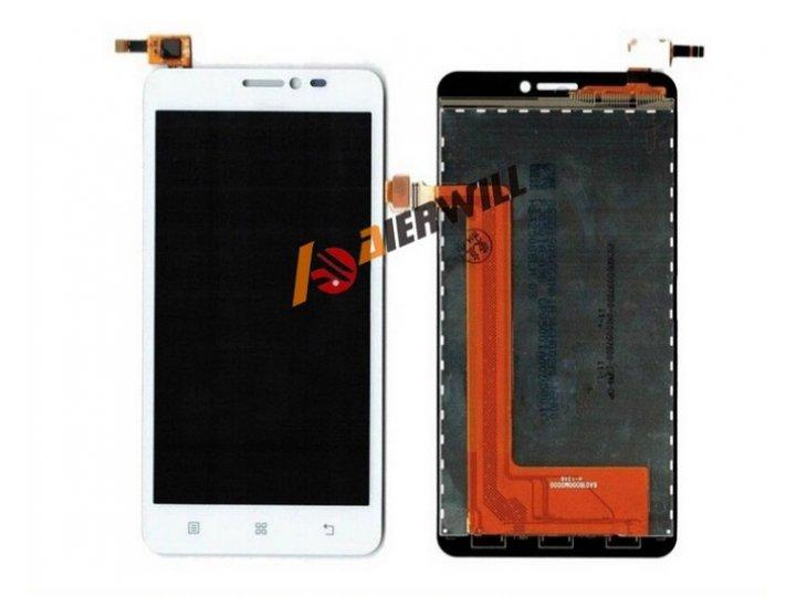 Фирменный LCD-ЖК-сенсорный дисплей-экран-стекло с тачскрином на телефон Lenovo S850 белый + гарантия..