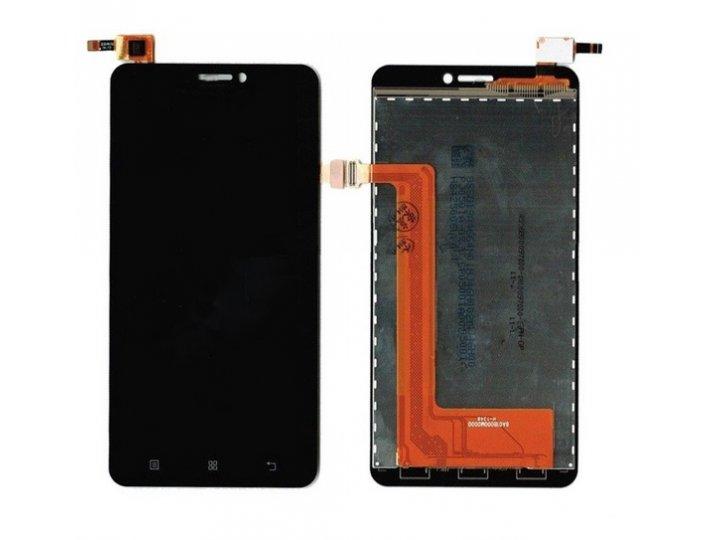 Фирменный LCD-ЖК-сенсорный дисплей-экран-стекло с тачскрином на телефон Lenovo S850 черный + гарантия..