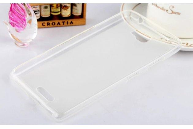 Фирменная ультра-тонкая полимерная из мягкого качественного силикона задняя панель-чехол-накладка для Lenovo S856 белая