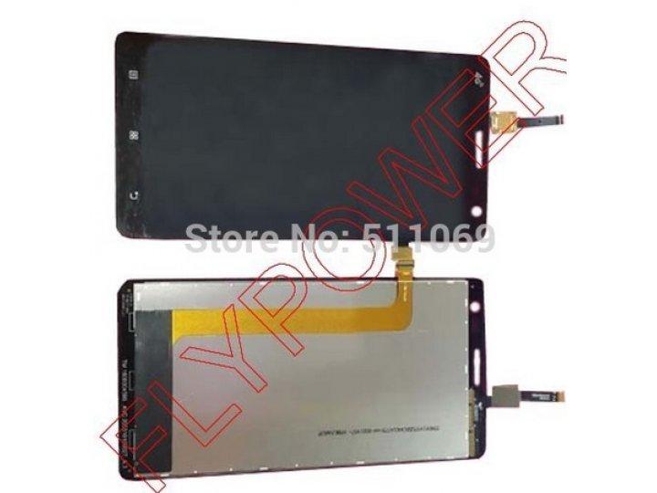 Фирменный LCD-ЖК-сенсорный дисплей-экран-стекло с тачскрином на телефон Lenovo S856 черный + гарантия..